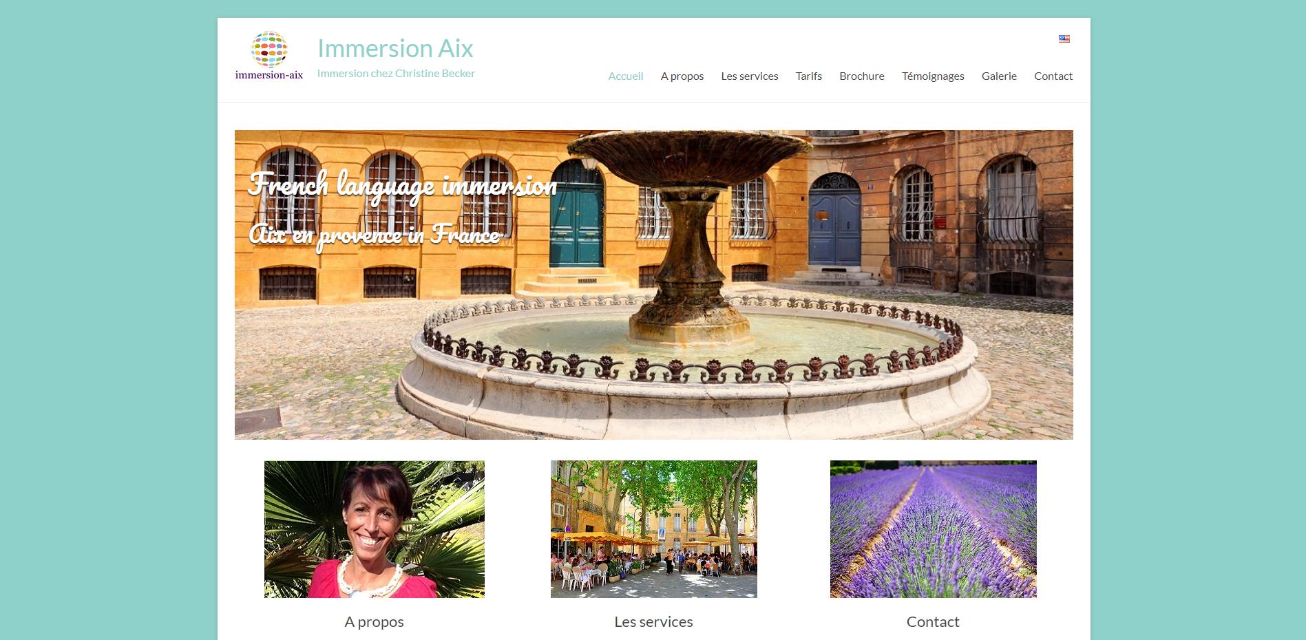 Immersion Aix - Création site internet Geoffrey Leduc