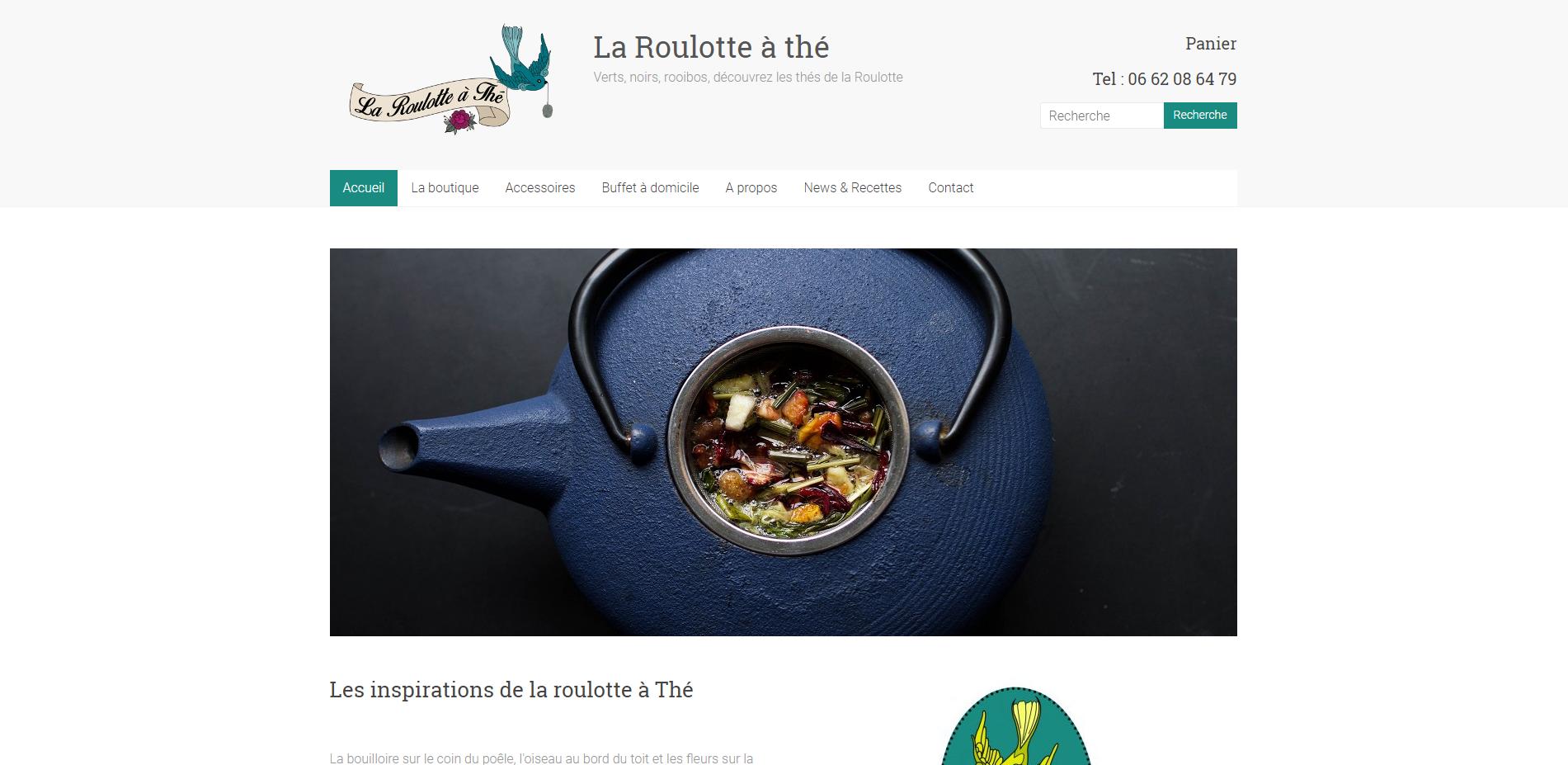 La Roulotte à Thé - Création site internet Geoffrey Leduc