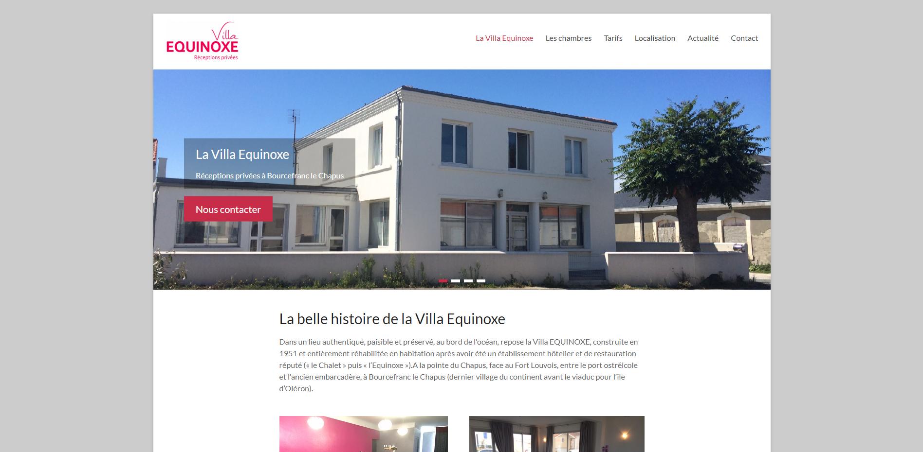 La Villa Equinoxe - Création site internet Geoffrey Leduc