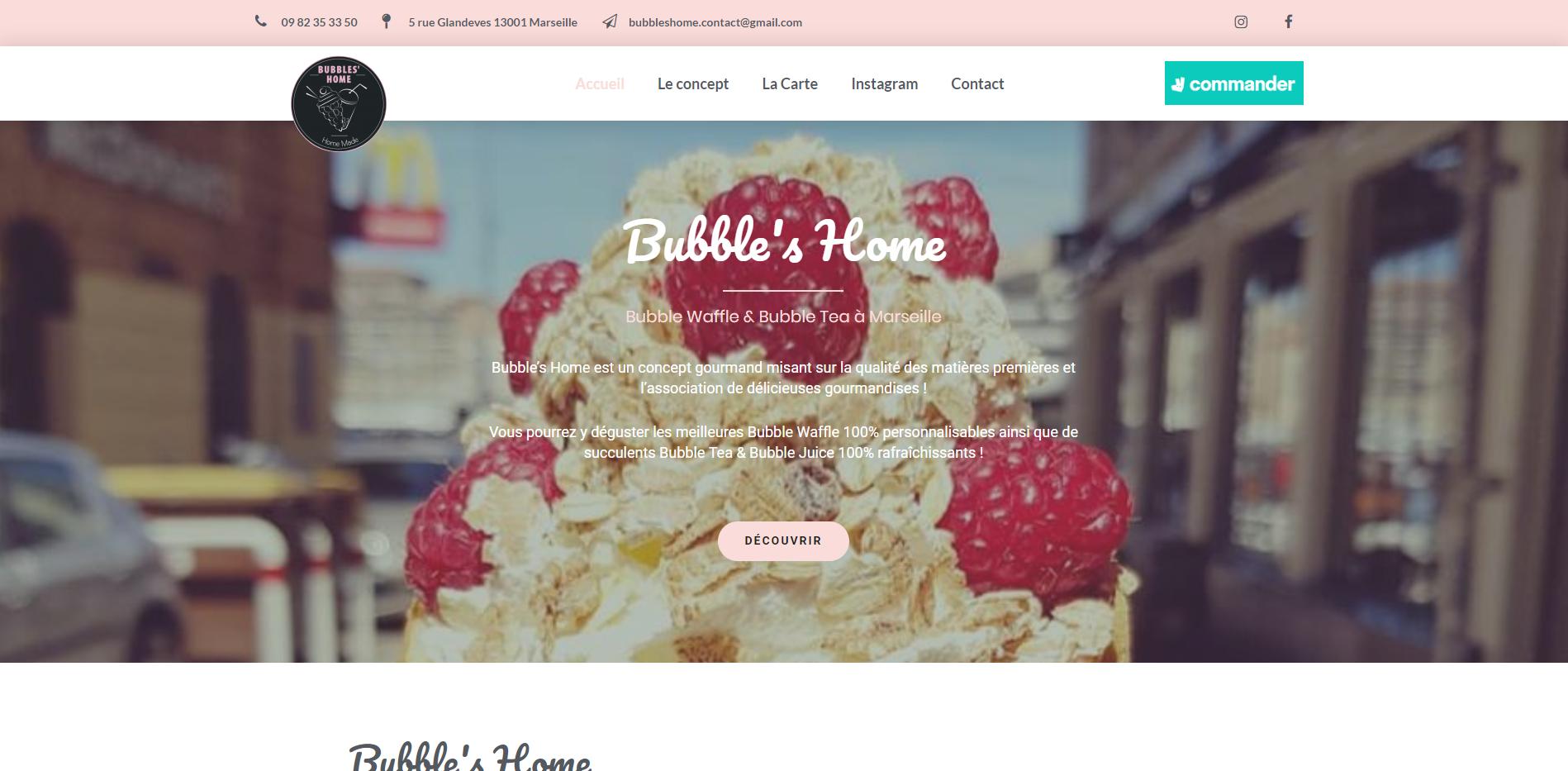 Bubble's Home Marseille - Création site internet Geoffrey Leduc