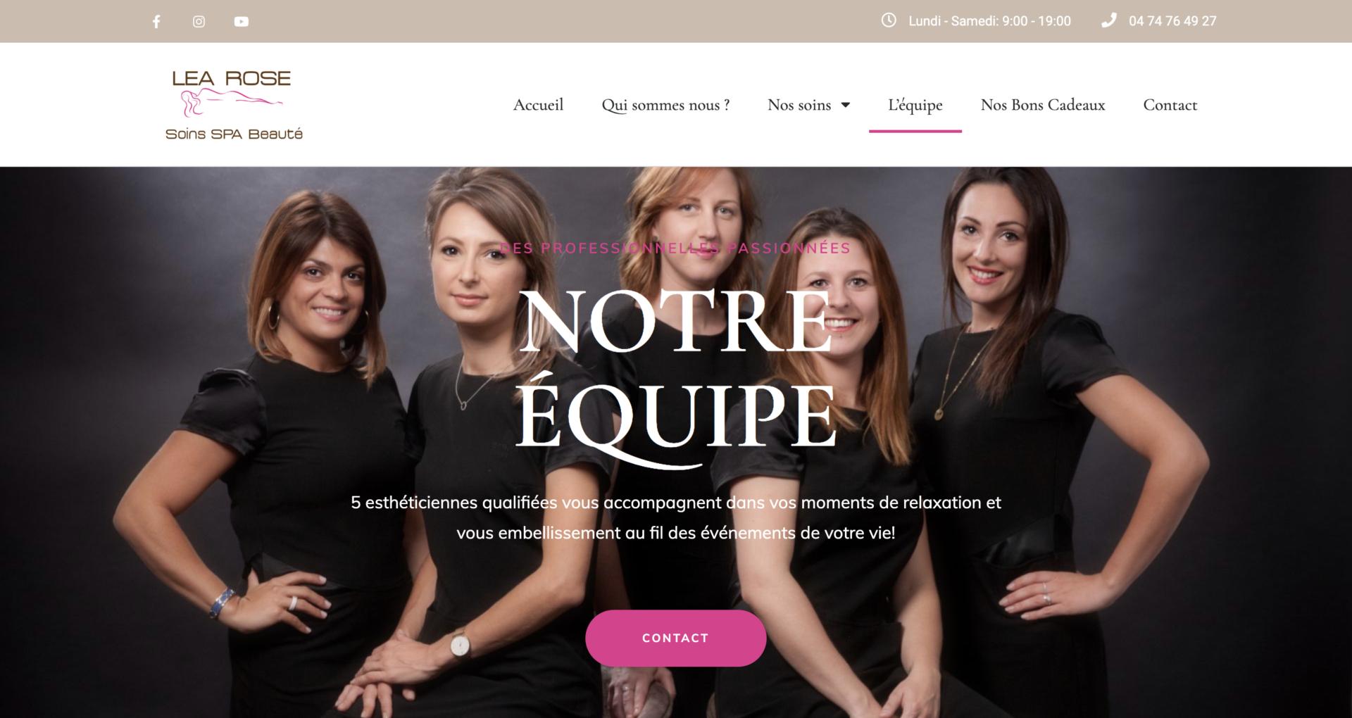 Centre de Beauté Léa Rose - Création site internet