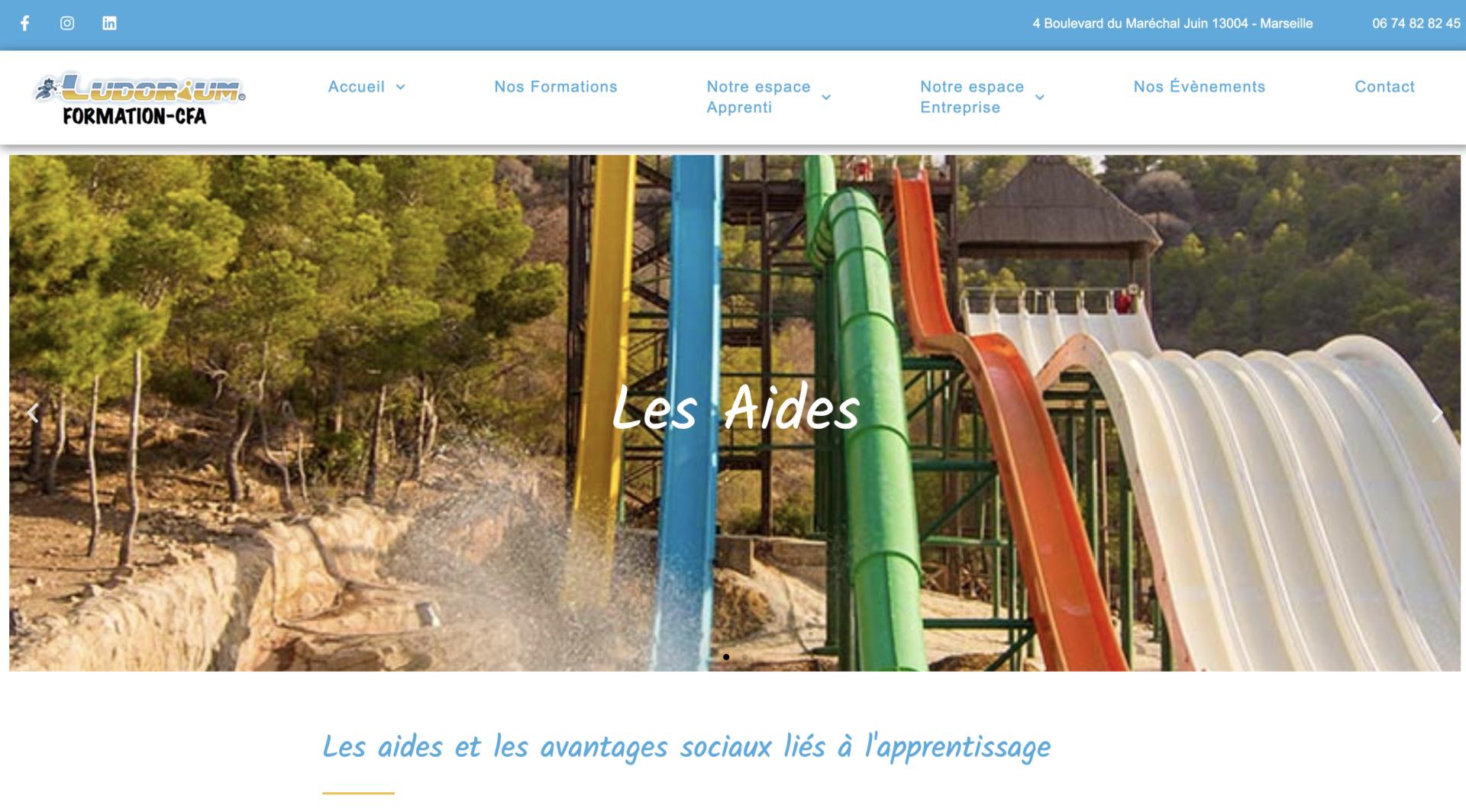 Ludorium CFA - Création site internet