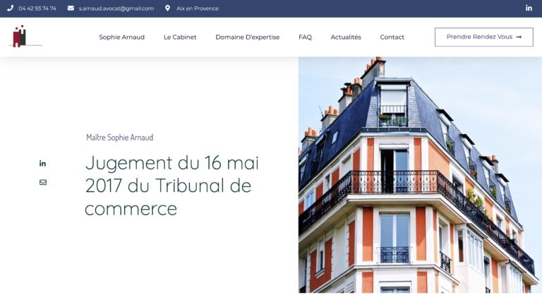 Création site internet Avocat - Aix en Provence Geoffrey Leduc