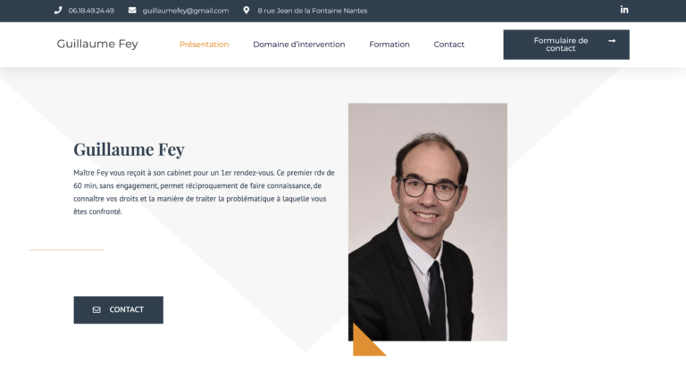 Création site internet Avocat - Guillaume Fey Avocat