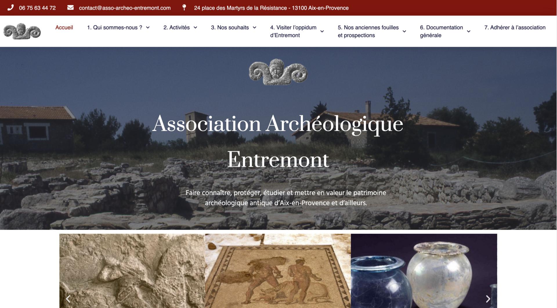 Association Archéologique d'Entremont - Création site internet