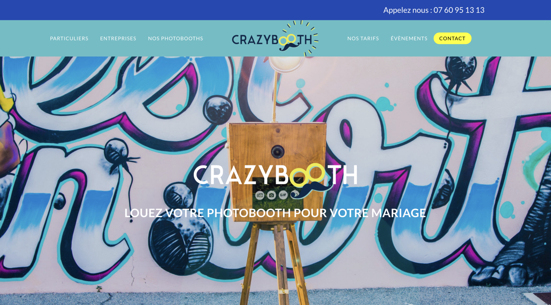 Crazybooth - Création site internet