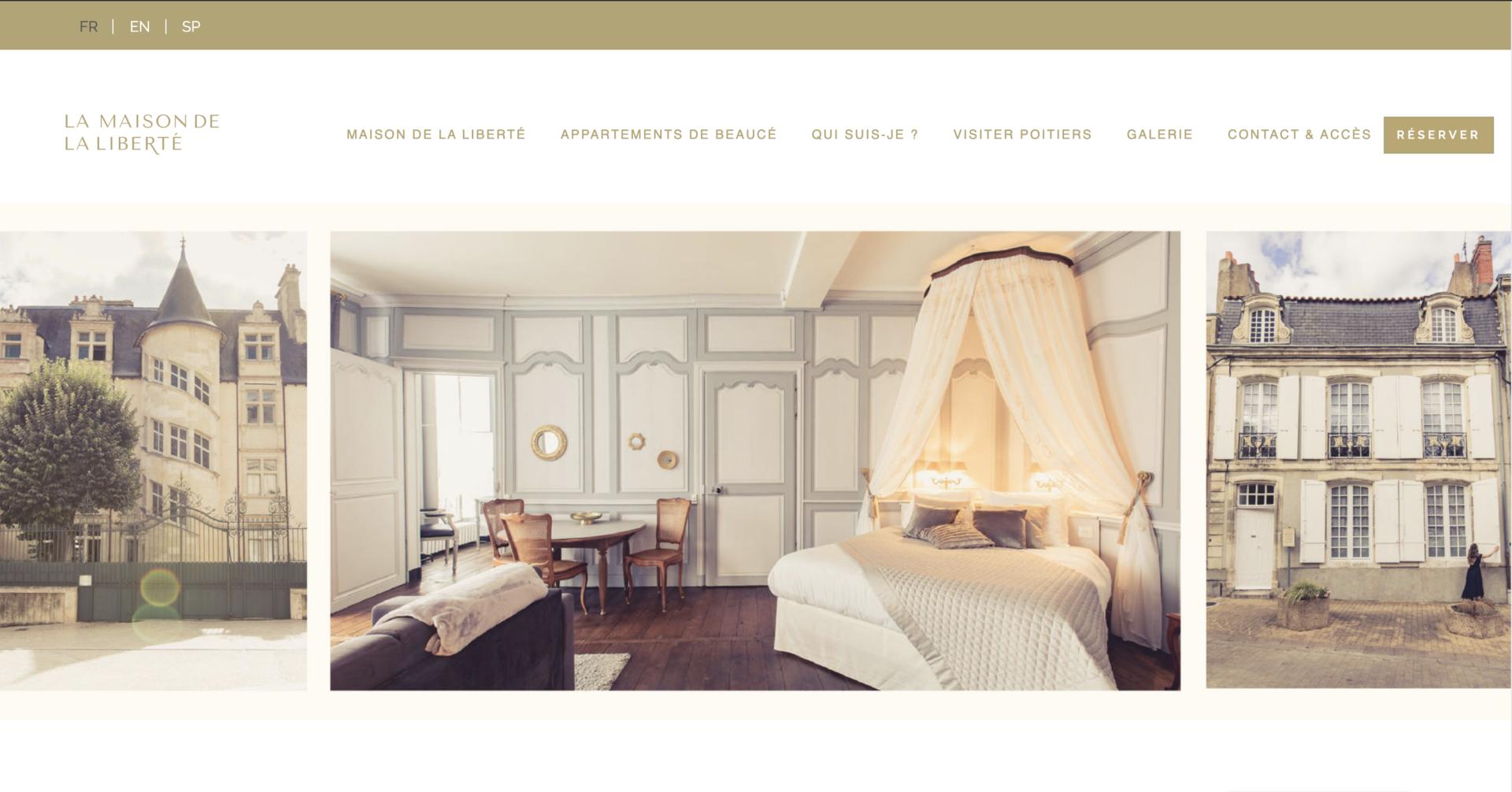 La Maison de la Liberté - Création site internet