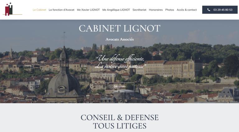 Création site internet Avocat - Xavier Lignot Bar le Duc