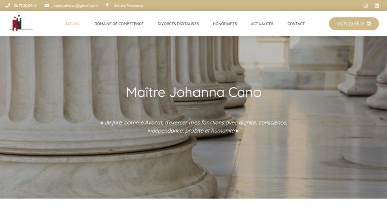 Johanna Cano Avocat - Création site internet Avocat