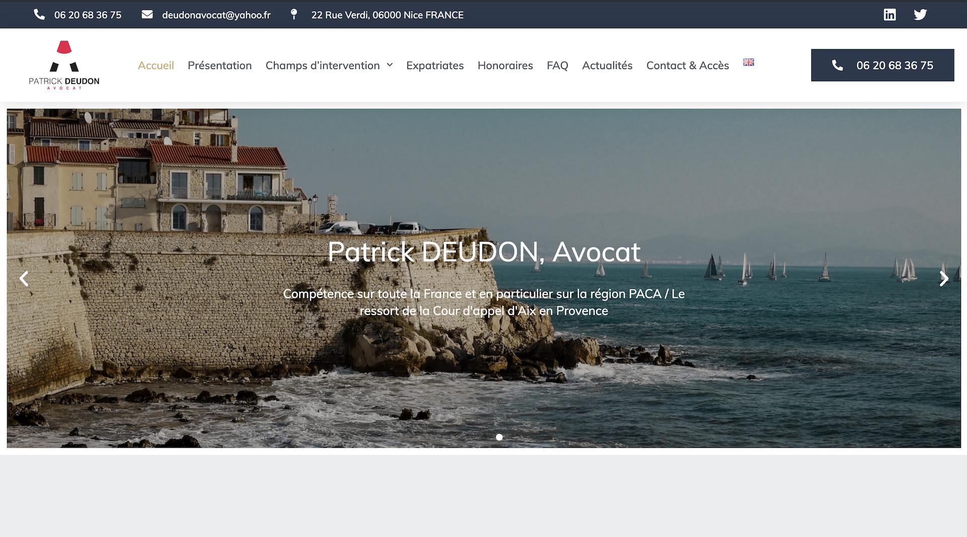 Patrick Deudon Avocat - Création Site internet Avocat