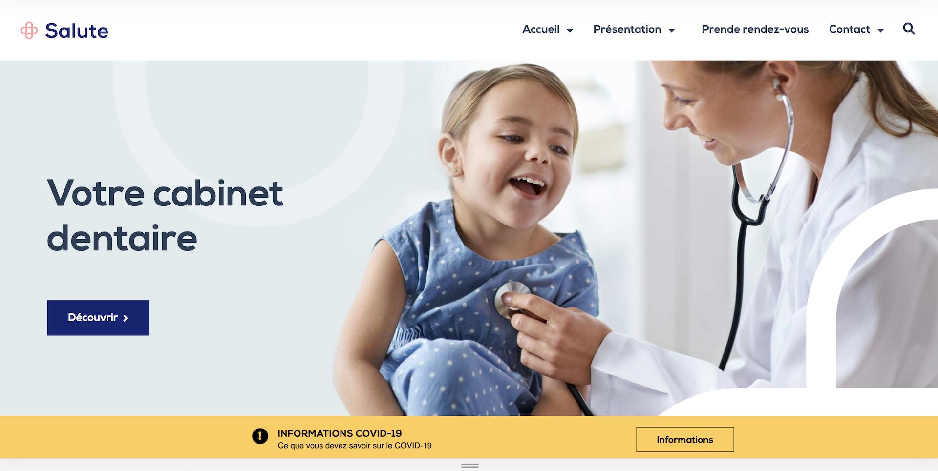 Création site internet Dentiste à 1600€ - Geoffrey Leduc 1