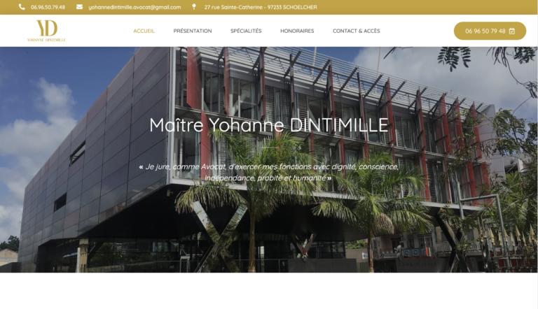 Création site internet Avocat - Yohanne Dintimille