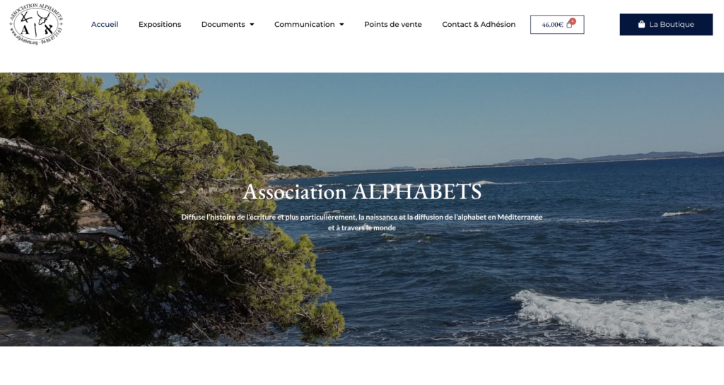 Alphabets.org - Création site Vitrine