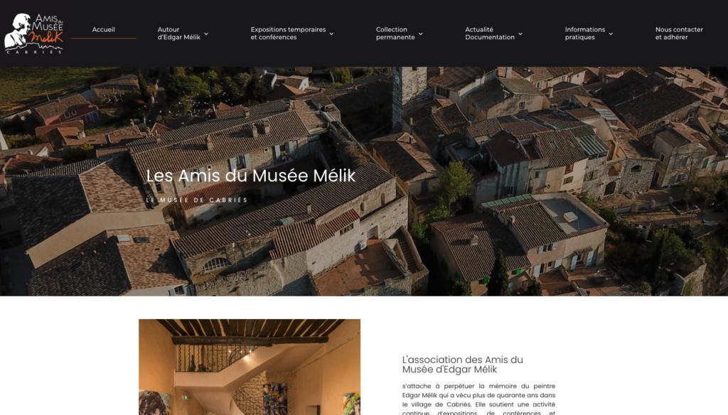 Amis du Musée Mélik - Création site internet Aix-en-Provence