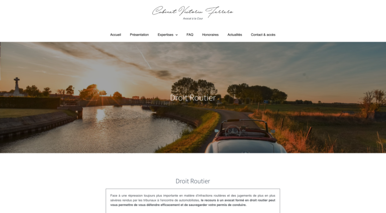 Victoria Ferrero - Création site internet Avocat