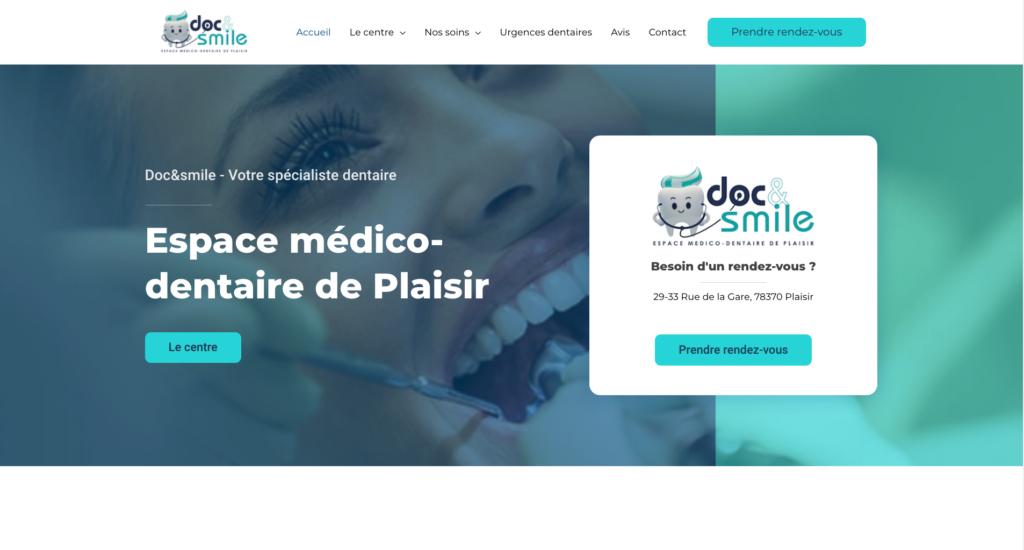 Création site internet Dentiste - Doc&Smile à Plaisir
